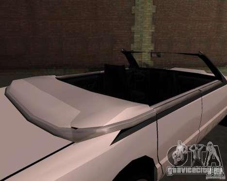 Taxi Cabrio для GTA San Andreas вид справа