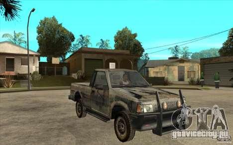 Rusty Mazda Pickup для GTA San Andreas вид сзади