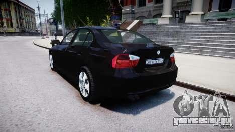 BMW 3-Series Unmarked [ELS] для GTA 4 вид сзади слева