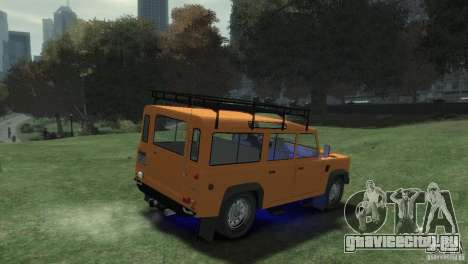 Land Rover Defender Station Wagon 110 для GTA 4 вид сзади слева