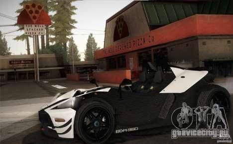KTM-X-Bow для GTA San Andreas вид изнутри