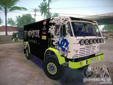 КамАЗ 4911 Мастер Monster Energy для GTA San Andreas вид сзади слева