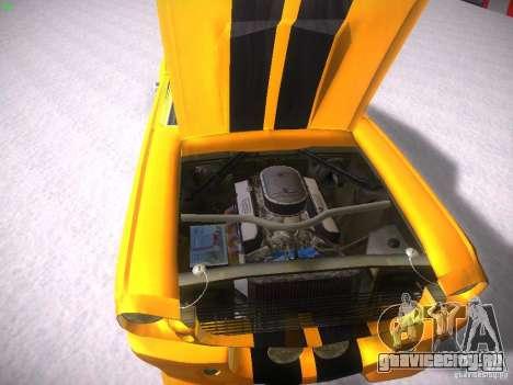 Shelby GT500 Eleanor для GTA San Andreas вид изнутри