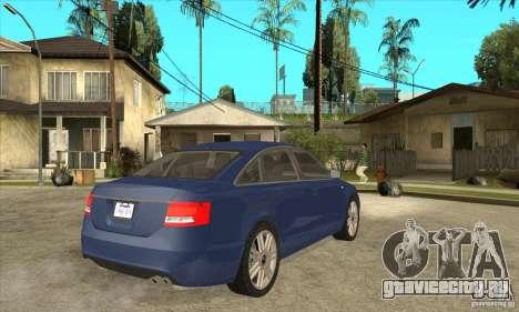Audi S6 Limousine V1.1 для GTA San Andreas вид справа