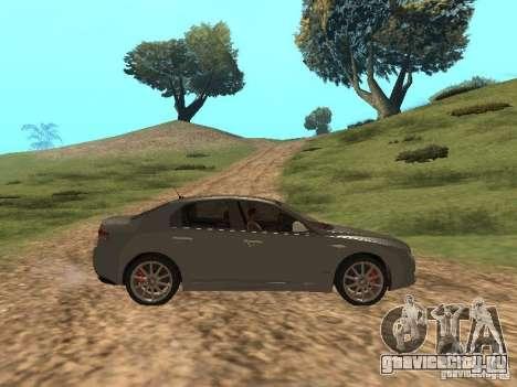 Alfa Romeo 159Ti для GTA San Andreas вид сзади
