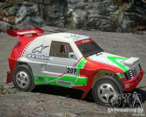 Mitsubishi Pajero Proto Dakar EK86 Винил 2 для GTA 4 вид слева