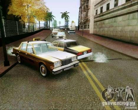 Chevrolet Impala 1986 Taxi Cab для GTA San Andreas вид сбоку