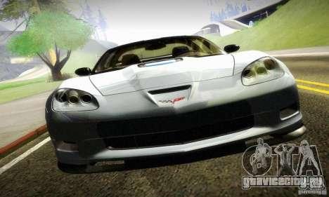 Chevrolet Corvette ZR-1 для GTA San Andreas вид сзади слева