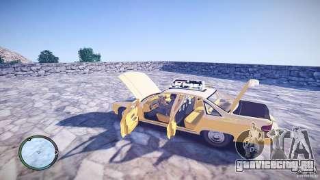 Chevrolet Caprice Taxi для GTA 4 вид изнутри
