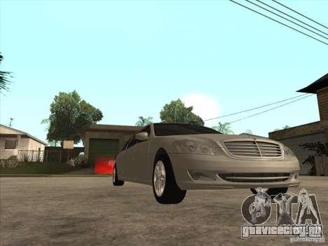 Mercedes-Benz Pullman (w221) SE для GTA San Andreas вид изнутри