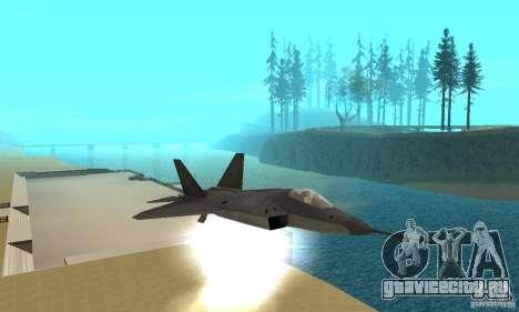YF-22 Black для GTA San Andreas вид сбоку