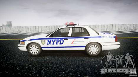 Ford Crown Victoria Police Department 2008 NYPD для GTA 4 вид сзади