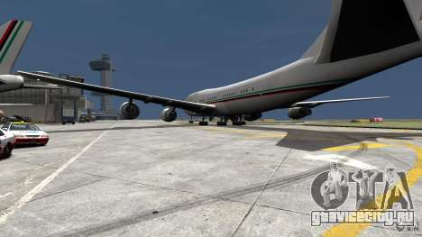 Real Emirates Airplane Skins Flagge для GTA 4 вид слева