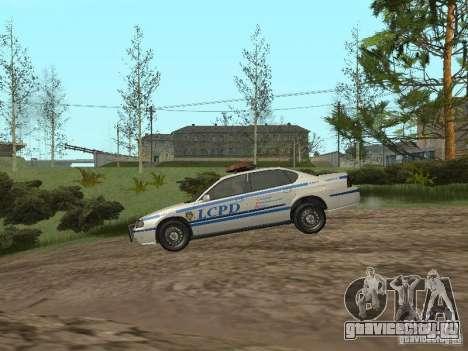 Police из ГТА 4 для GTA San Andreas вид сзади слева