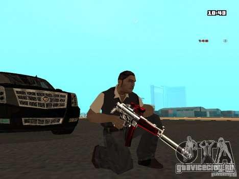 White Red Gun для GTA San Andreas четвёртый скриншот