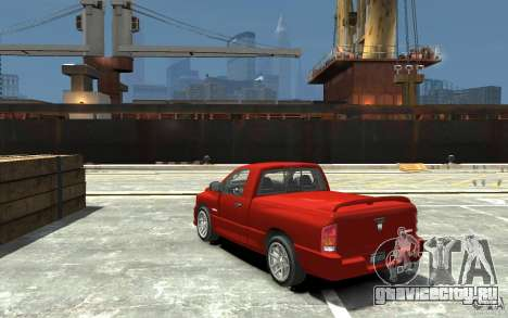 Dodge Ram SRT-10 v.1.0 для GTA 4 вид сзади слева