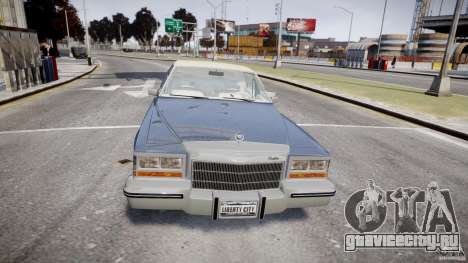 Cadillac Fleetwood Brougham 1985 для GTA 4 вид снизу