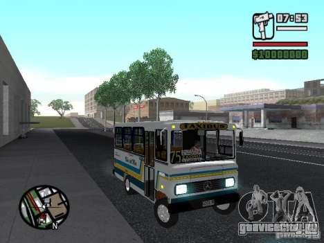 Cuatro Ases M.Benz LO608D для GTA San Andreas вид сбоку
