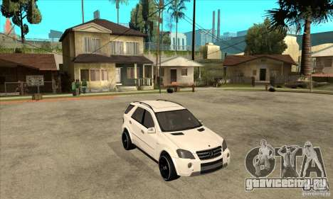 Mercedes-Benz ML 63 для GTA San Andreas вид сзади