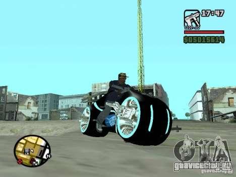 Tron legacy bike v.2.0 для GTA San Andreas вид слева