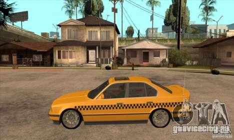 BMW E34 535i Taxi для GTA San Andreas вид слева