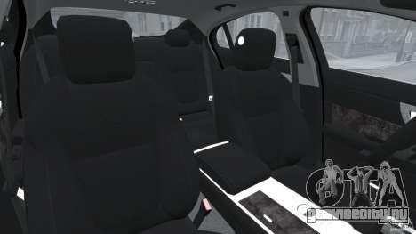 Jaguar XFR 2010 v2.0 для GTA 4 вид изнутри