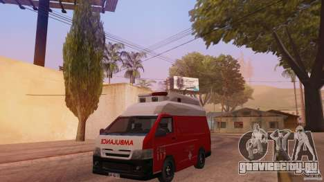 Toyota Hiace Philippines Red Cross Ambulance для GTA San Andreas