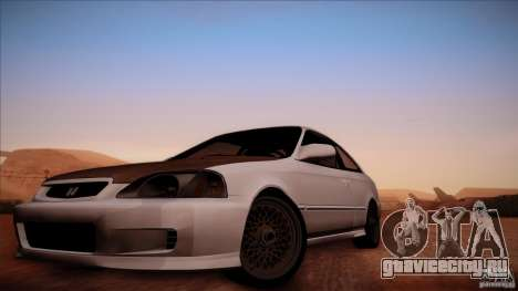Honda Civic Coupe Si Coupe 1999 для GTA San Andreas вид сзади слева