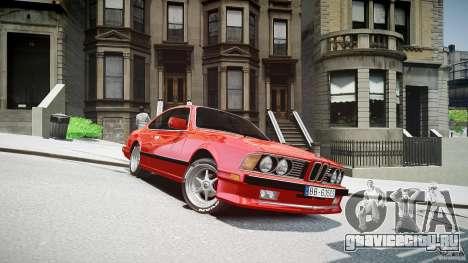 BMW M6 v1 1985 для GTA 4 вид сзади
