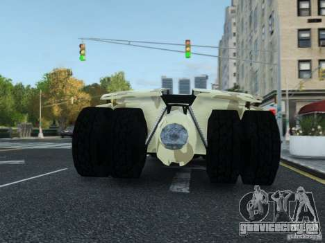 HQ Batman Tumbler для GTA 4 вид изнутри