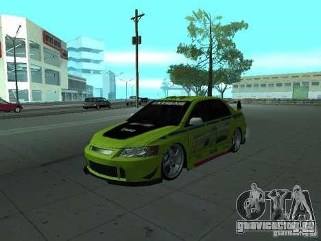 Mitsubishi Lancer Evolution 8 для GTA San Andreas колёса