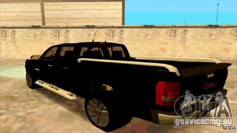GMC Sierra 2011 для GTA San Andreas вид слева