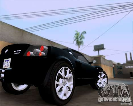 Vauxhall VX220 Turbo для GTA San Andreas вид сзади
