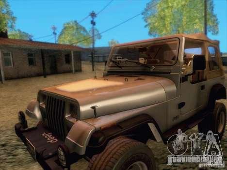 Jeep Wrangler 1994 для GTA San Andreas вид слева