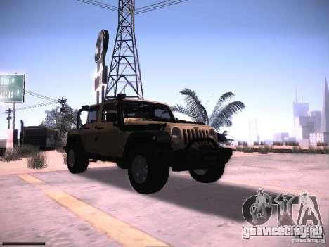 Jeep Wrangler Rubicon Unlimited 2012 для GTA San Andreas вид сзади