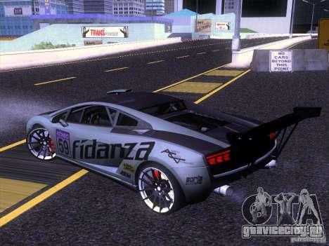 Lamborghini Gallardo Racing Street для GTA San Andreas вид слева