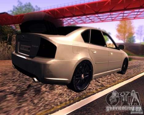 Subaru Legacy 3.0 R tuning v 2.0 для GTA San Andreas вид сзади слева