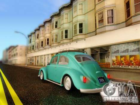 Volkswagen Beetle 1300 для GTA San Andreas вид слева