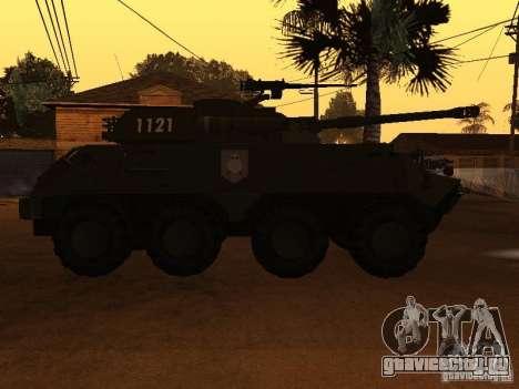 БТР-60FSV для GTA San Andreas вид изнутри