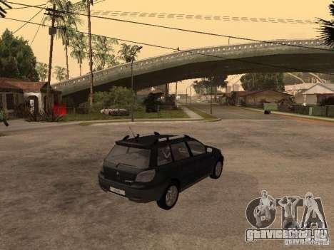 Mitsubishi Outlander 2003 для GTA San Andreas вид сзади слева