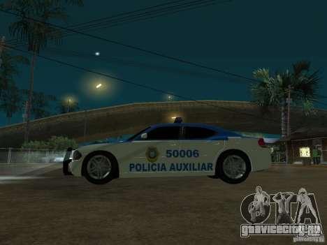 Dodge Charger Police для GTA San Andreas вид сзади
