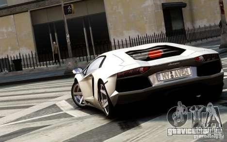 Lamborghini Aventador LP700-4 2012 для GTA 4 вид сзади слева