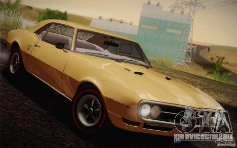 Pontiac Firebird 400 (2337) 1968 для GTA San Andreas вид изнутри