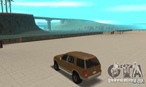 Ford Explorer 2002 для GTA San Andreas вид сзади слева