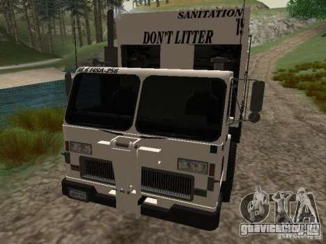 Мусоровоз из GTA 4 для GTA San Andreas вид сбоку