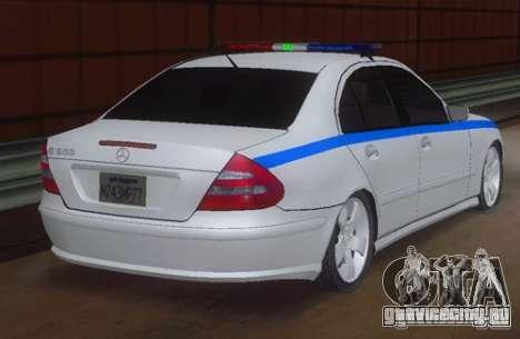 MERCEDES BENZ E500 w211 SE Police Россия для GTA San Andreas вид слева