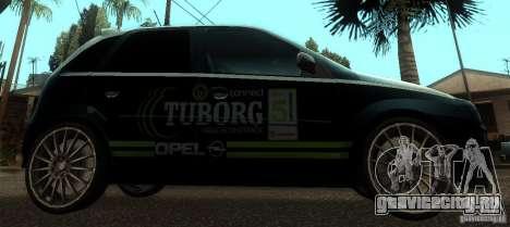 Opel Corsa GSI Rally для GTA San Andreas вид слева