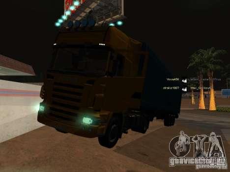 Scania R620 для GTA San Andreas вид снизу
