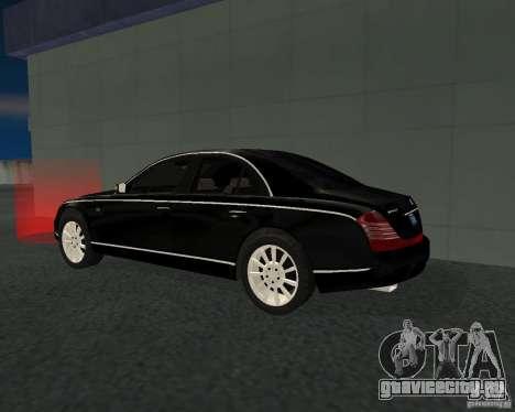 Maybach 57S для GTA San Andreas вид справа
