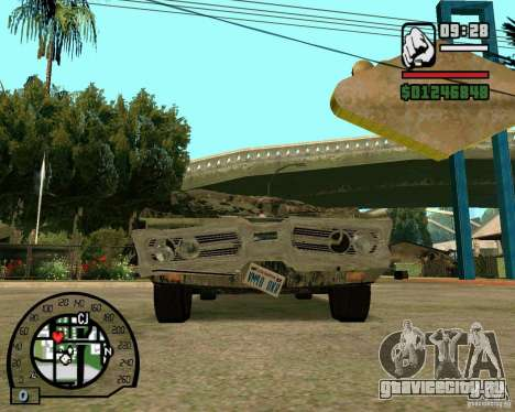 Plymouth Fury III для GTA San Andreas вид сзади